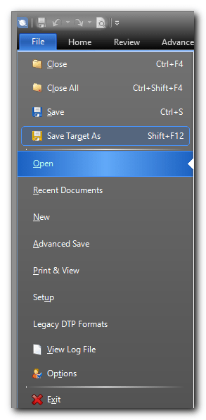 SDL Studio Save Target As Command