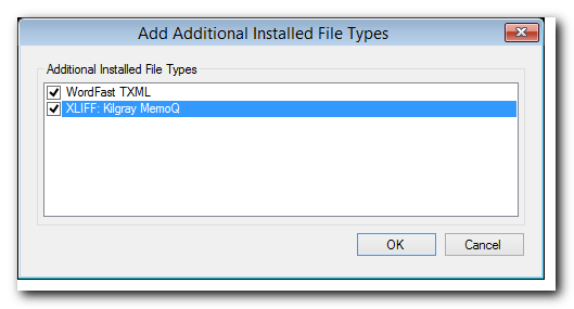 SDL Studio 2014 Add Additional Installed File Types menu