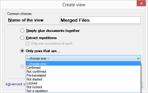 Create view windows in memoQ 2014